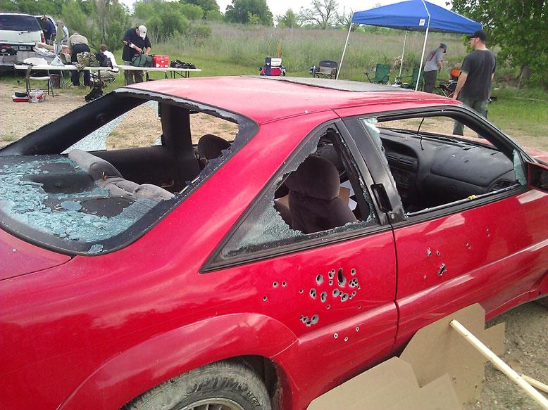 Car Shot Up