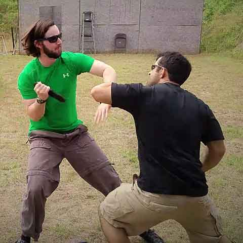 Knife fighting and defense training